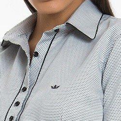 camisa social de poa premium principessa eloa detalhe gola