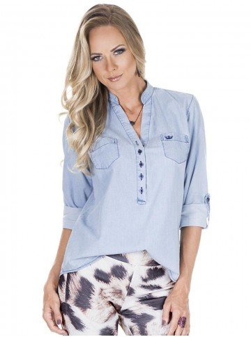 blusa jeans feminina principessa desiree frente new