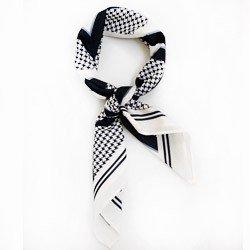 lenco estampado losango principessa laiza detalhe