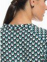 camisa estampa pavao turquesa principessa jamile placa