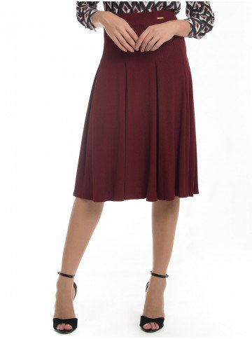 saia midi bordo principessa rebeca look