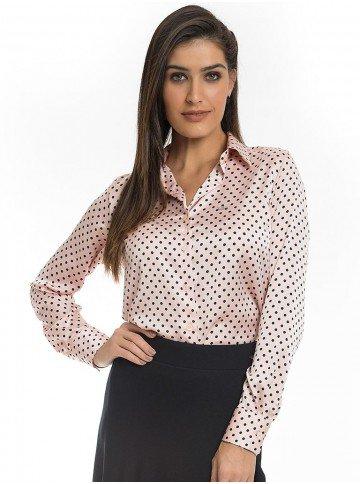 camisa fundo rose de poa principessa danubia