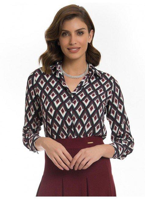 camisa estampada geometrico principessa matilda