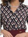 camisa feminina social estampada geometrica principessa matilda
