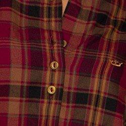 camisa xadrez feminina bordo principessa ines detalhe acabamento