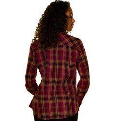 camisa xadrez feminina bordo principessa ines detalhe modelagem