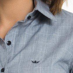 camisa xadrez principe de gales principessa elisabete detalhe coroa