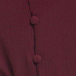camisa social feminina bordo principessa isabella detalhe botao forrado
