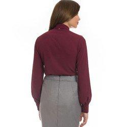 camisa social feminina bordo principessa isabella detalhe modelagem