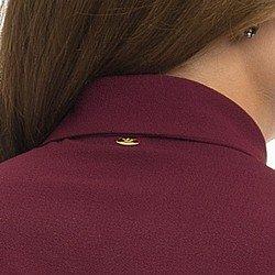 camisa social feminina bordo principessa isabella detalhe placa ouro