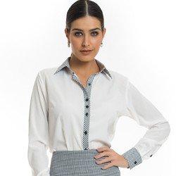 camisa social pied de poule principessa catarina detalhes
