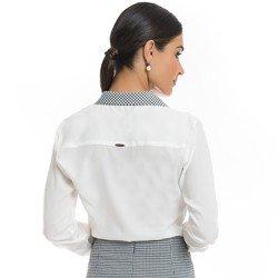 camisa social pied de poule principessa catarina detalhes modelagem
