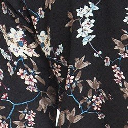 camisa gola choker floral preto principessa sabrina detalhe tecido