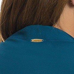 camisa gola de laco petroleo principessa ionita placa