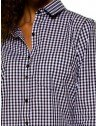 camisa xadrez vitchy preto e branco principessa aracele bolso