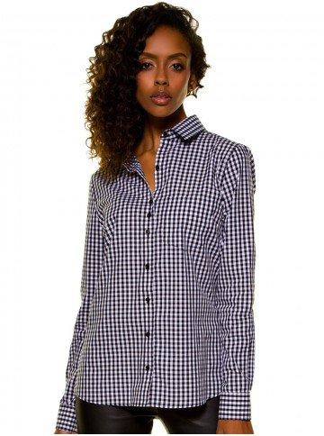 camisa xadrez vitchy preto e branco principessa aracele look