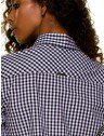 camisa xadrez vitchy preto e branco principessa aracele placa metal
