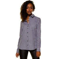 camisa xadrez vitchy preto e branco principessa aracele detalhe look