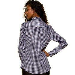 camisa xadrez vitchy preto e branco principessa aracele detalhe modelagem