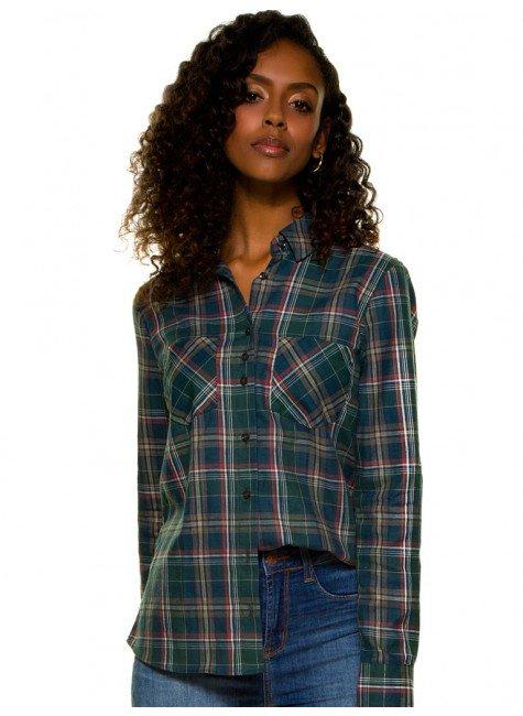 camisa xadrez verde militar principessa kimberly look