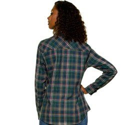 camisa xadrez verde militar principessa kimberly detalhe modelagem