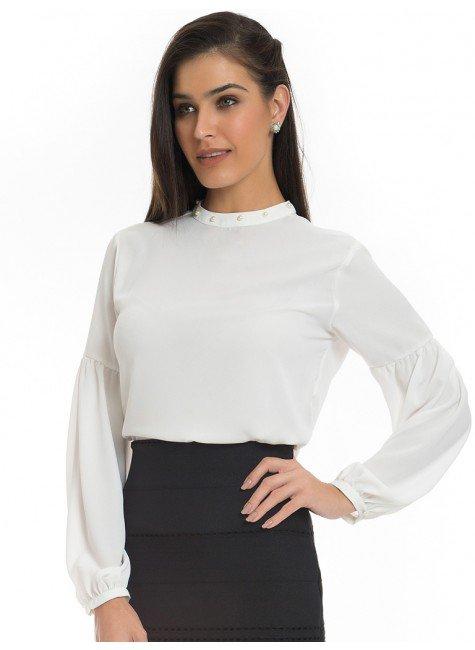 f0088c39eac5 blusa com perolas na gola principessa christiane off white look