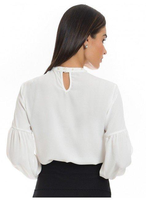 b8e3c7ef6650 ... blusa com perolas na gola principessa christiane off white look costa  ...