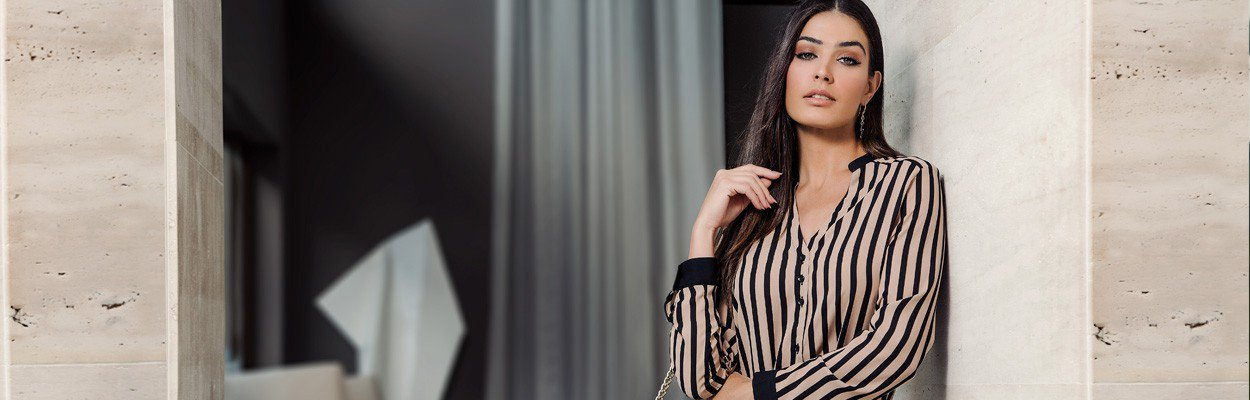 camisa classico nude preto principessa olana banner conceito