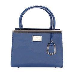 bolsa vinil magna azul leopoldine frente