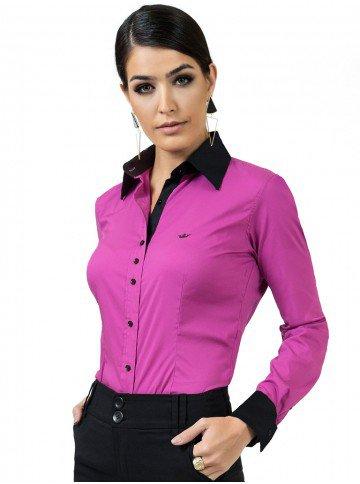 camisa feminina com elastano principessa joelma look