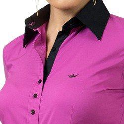 camisa feminina com elastano principessa joelma detalhe gola