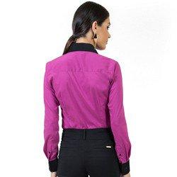 camisa feminina com elastano principessa joelma detalhe look costa