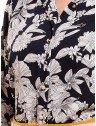 camisa social estampada floral marinho principessa tayane botao