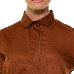 camisa feminina ferrugem principessa neide detalhes