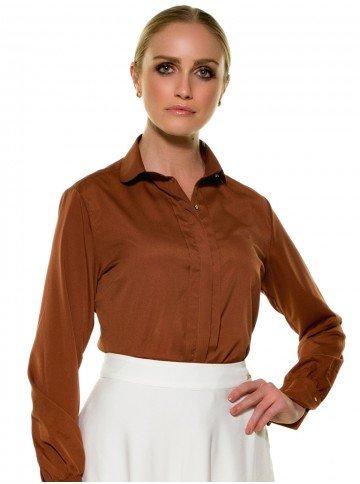 camisa feminina ferrugem principessa neide look