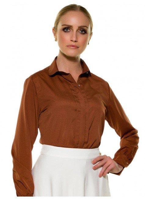 3f03c1a08e Camisa Feminina Ferrugem em Crepe Principessa Neide