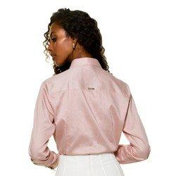 camisa plissada drapeada fronta prin glenda modelagem mini