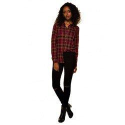 calca jeans feminina preta joelho rasgado denimzero dz2694 look completo