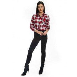 calca jeans feminina preta denim zero dz2693 look completo