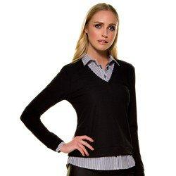 sueter camisa listrada preta principessa violetta mini descri