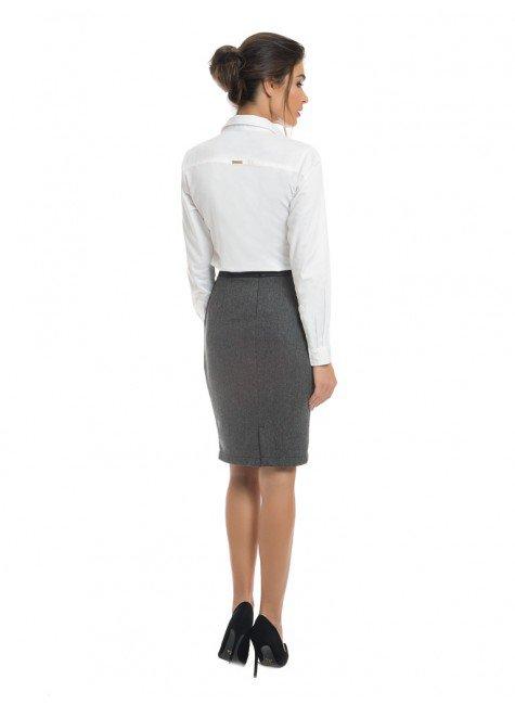 34f780bb44dd3 ... camisa social branca feminina com drapeado principessa benita look  completo costa ...