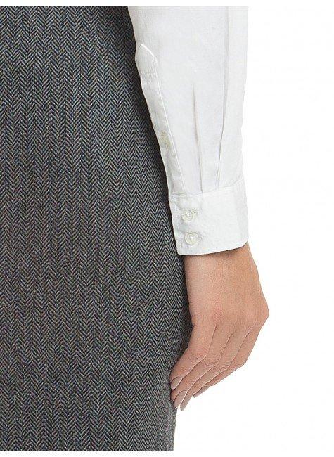c23dea4b45094 ... camisa social branca feminina com drapeado principessa benita punho