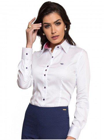 Camisa Social Feminina de Fio Egípcio Principessa Nalva