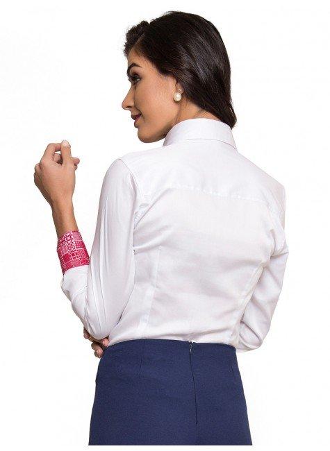 Camisa Social Feminina de Fio Egpcio Principessa Nalva Blusas 4163b489b3b1d