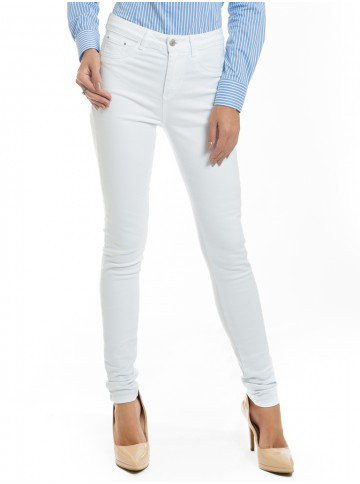 calca jeans branca denim dz2693 frente