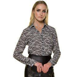 camisa manga longa geometrica principessa loa geral