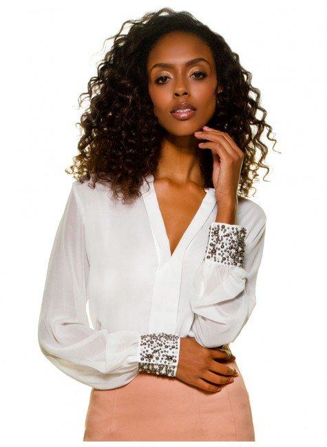 blusa social pedraria principessa graciani detalhe look