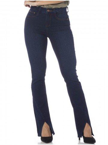 calca jeans bootcut azul frente