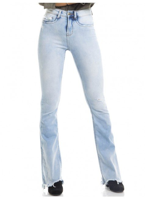 calca jeans clara denim frente