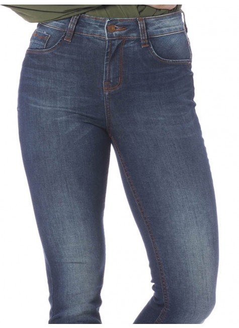 1ef1b1ccb Calça Jeans Skinny Estonada com Franjas Denim Zero - DZ2634